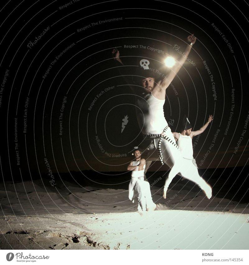 arrr ! Pirat 3 mehrere fliegen springen fallen oben aufwärts unten abwärts hüpfen Absturz UFO Geschwindigkeit Nacht Licht Schatten Dieb vorwärts Angriff