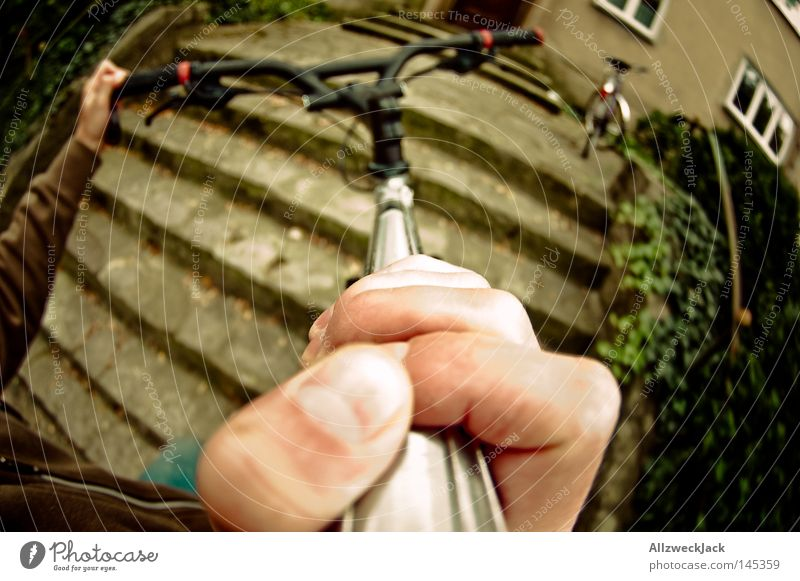 Bergetappe Mann Ferien & Urlaub & Reisen Straße Bewegung Fahrrad Treppe Ausflug fahren Güterverkehr & Logistik Fußweg Bürgersteig tragen umweltfreundlich strampeln Egoperspektive
