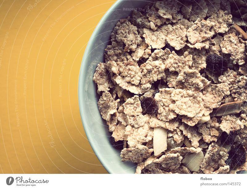 Guten Morgen Müsli Cornflakes Flocke Frühstück Gesundheit Wellness Vitamin Vollkorn Rosinen Haferflocken Kohlenhydrate ökologisch Lebensmittel Ballaststoff