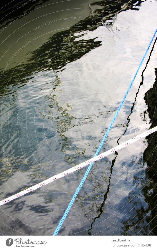 Hafen Seedorf Wasser Strand Spielen Wellen Küste Seil Spannung Ostsee Rügen maritim Mecklenburg-Vorpommern Wasseroberfläche gespannt Kräusel