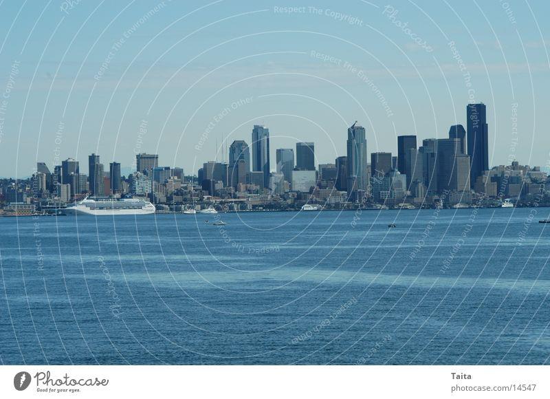 Seattle Wasser Hochhaus Horizont Amerika Skyline Nordamerika Seattle