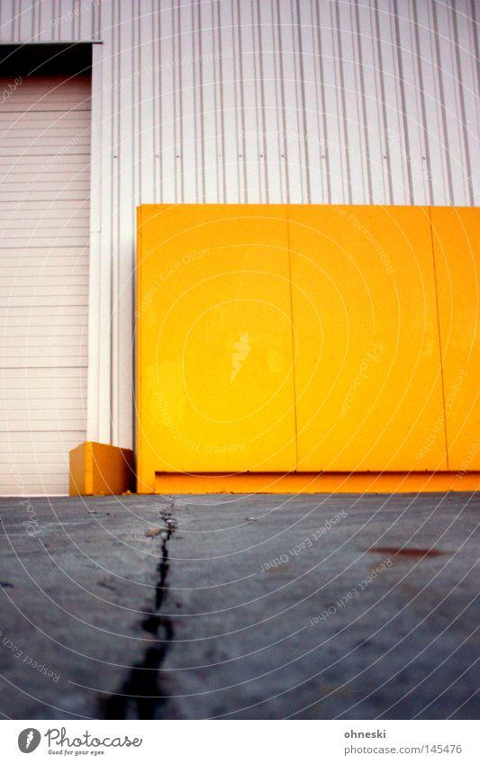 Grand Canyon Riss Wand gelb Industrie Tor Lagerhalle Halle Produktion stechen Arbeit & Erwerbstätigkeit Schichtarbeit Teer Stahl Farbe Kontrast