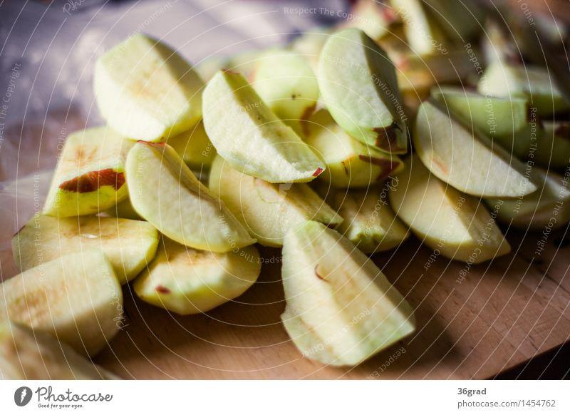 geschälter Apfel Lebensmittel Frucht Dessert Süßwaren Ernährung Kaffeetrinken Vegetarische Ernährung Fingerfood Küche lecker natürlich süß backen Backwaren