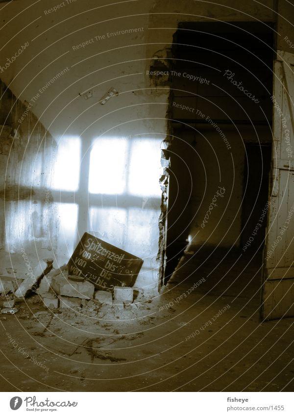 Spitzenzeit alt Einsamkeit Raum Tür Schilder & Markierungen Energiewirtschaft historisch Demontage Duplex