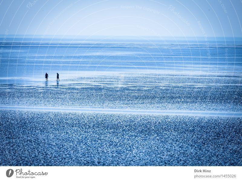 Wattwanderer Ferien & Urlaub & Reisen blau Sommer Meer ruhig Ferne Strand Leben natürlich Gesundheit Freiheit Gesundheitswesen 2 Tourismus Freizeit & Hobby