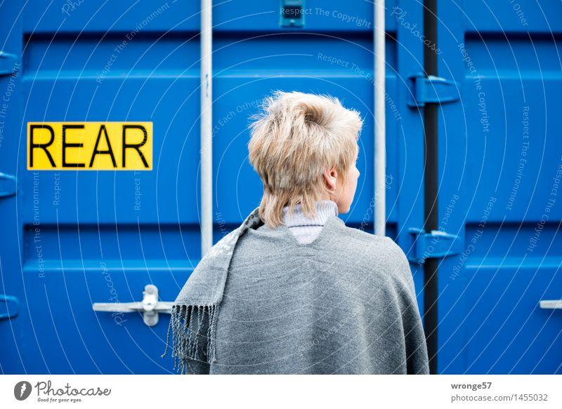 ... kann auch entzücken Mensch Frau blau schön schwarz Erwachsene gelb natürlich feminin grau elegant Schilder & Markierungen blond Schriftzeichen 45-60 Jahre