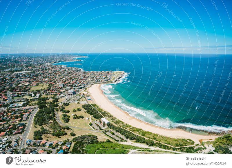 Maroubra Strand Sydney Natur Ferien & Urlaub & Reisen Stadt blau Sommer Meer Umwelt Stil Lifestyle Freiheit Tourismus elegant Wellen genießen Insel