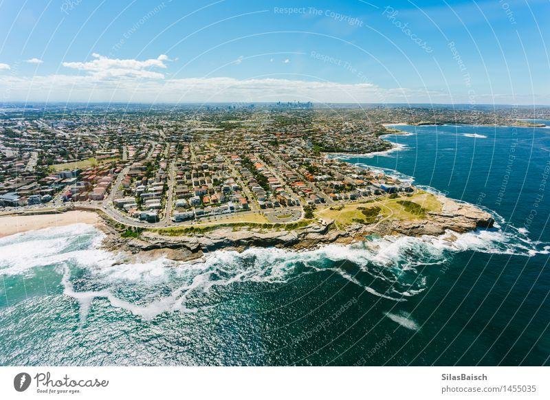 Sydney Küste Ferien & Urlaub & Reisen schön Sommer Meer Landschaft Haus Ferne Strand Leben Lifestyle Freiheit Schwimmen & Baden Tourismus Kraft Wellen