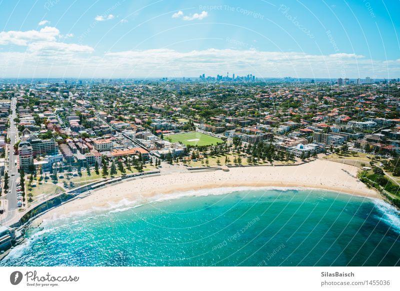 Schöner Coogee Strand in Sydney Ferien & Urlaub & Reisen Sommer Sonne Meer Landschaft Freude Küste Lifestyle Freiheit Schwimmen & Baden Tourismus elegant Wellen