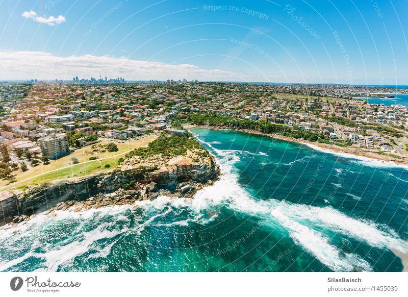 Sydney Küste und Skyline Natur Ferien & Urlaub & Reisen Sommer Sonne Meer Erholung Ferne Strand Leben Lifestyle Freiheit Tourismus Wellen Insel Ausflug