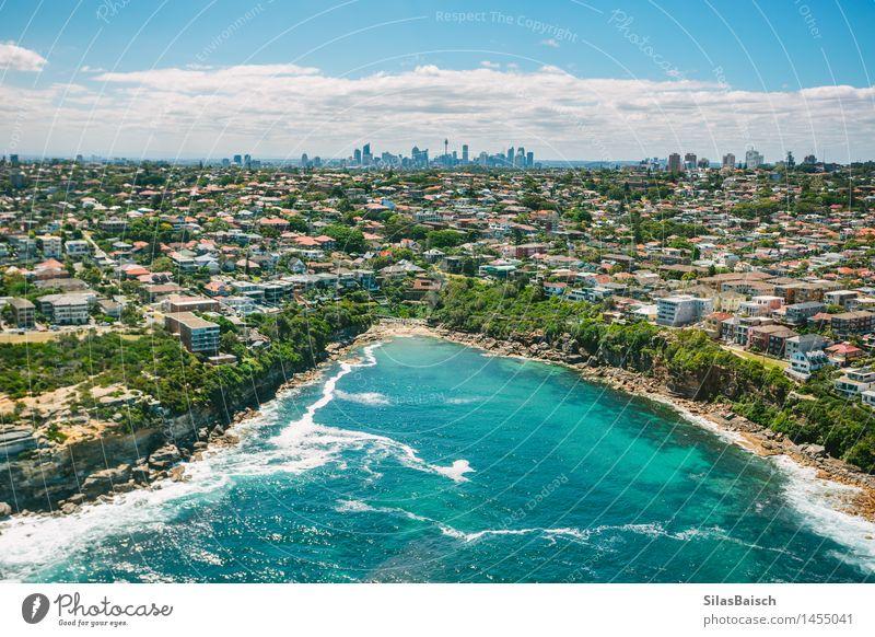 Sydney Küste und Skyline Natur Ferien & Urlaub & Reisen schön Sommer Sonne Meer Landschaft Freude Strand Umwelt Gefühle Lifestyle Freiheit Stimmung hell