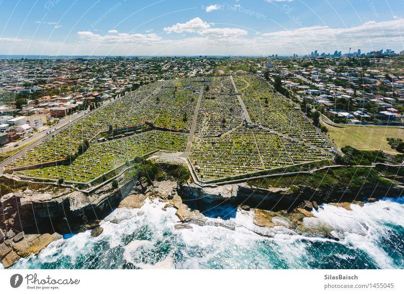 Friedhof in Sydney Natur Ferien & Urlaub & Reisen Stadt Meer Landschaft Reisefotografie Traurigkeit Küste Tourismus Wellen Insel Ausflug Abenteuer Skyline