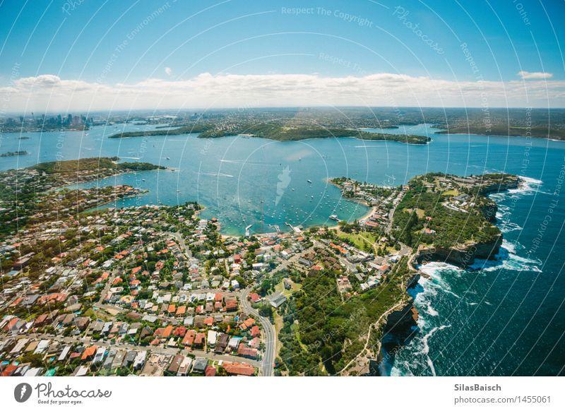 In Sydney herumfliegen Natur Ferien & Urlaub & Reisen Sommer Meer Freude Ferne Küste Lifestyle Freiheit Schwimmen & Baden Tourismus Wellen Insel Ausflug