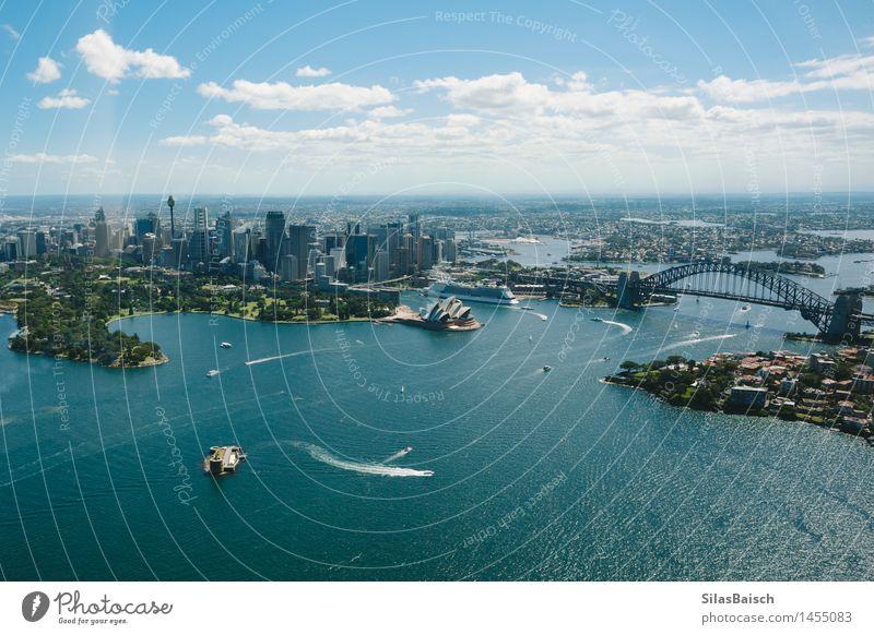 Sydney Opera House und Skyline Ferien & Urlaub & Reisen Stadt schön Meer Ferne Lifestyle Freiheit Tourismus Wellen Insel Ausflug Abenteuer Wahrzeichen Denkmal