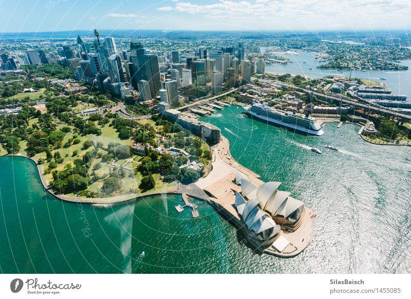 Sydney Opera House und Skyline Ferien & Urlaub & Reisen Stadt Meer Freude Ferne Architektur Gebäude Lifestyle Freiheit Tourismus Hochhaus Ausflug Brücke