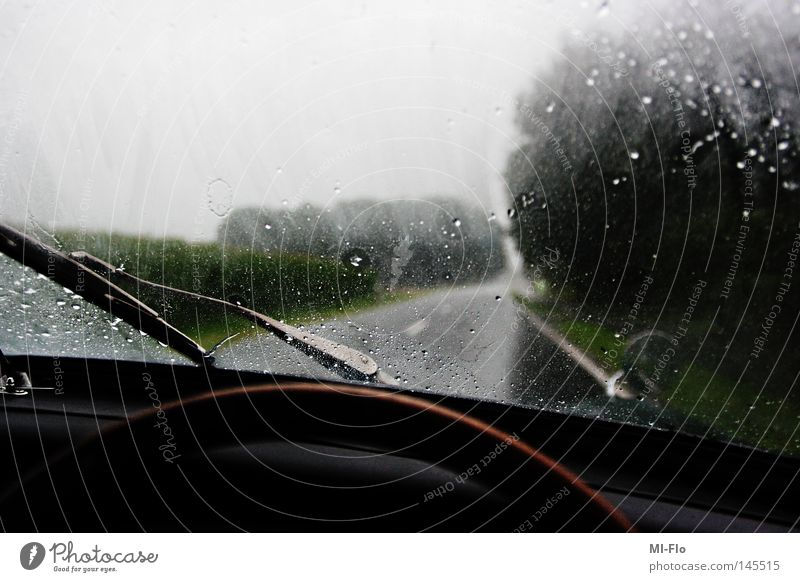 behindthewheel dunkel Wege & Pfade Regen Gewitter Brennpunkt Landstraße Sinnestäuschung Phantom
