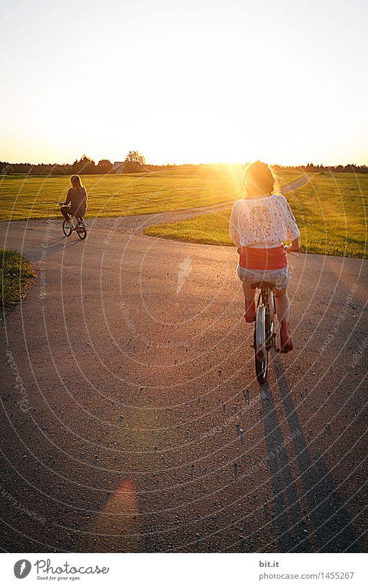 Sonnenradler Ferien & Urlaub & Reisen Tourismus Sport Fahrradfahren Mensch feminin Mädchen Geschwister Familie & Verwandtschaft Kindheit Freude Glück