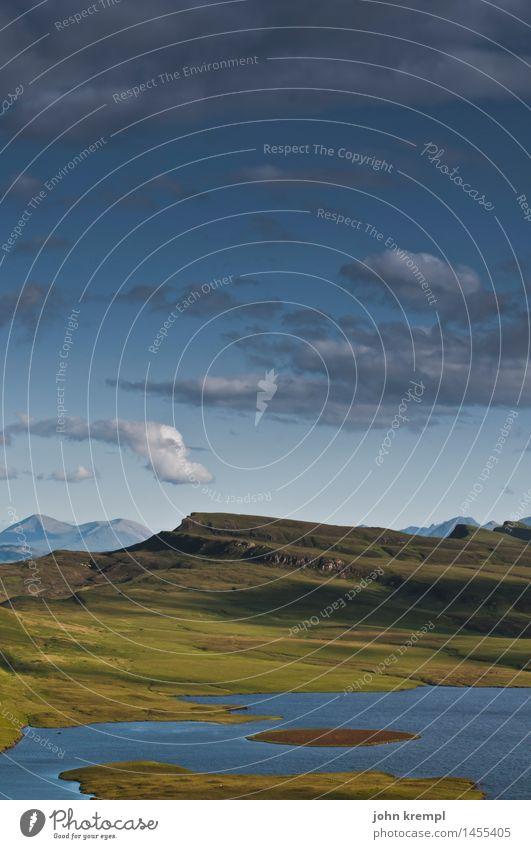 Skye Natur Ferien & Urlaub & Reisen Landschaft Einsamkeit Berge u. Gebirge Umwelt Wiese Küste Tourismus Horizont Zufriedenheit Idylle Lebensfreude
