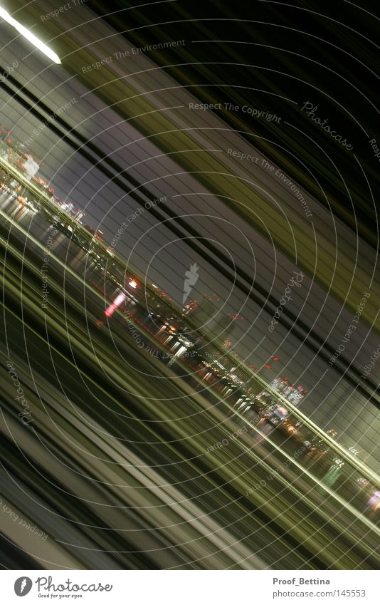 Tokyo Flow grün Stadt Linie Geschwindigkeit Asien Streifen Japan