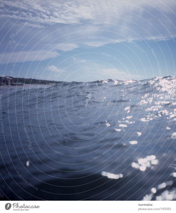 Nr. 307 taucht auf Natur Wasser Meer Sommer Strand Ferien & Urlaub & Reisen Gefühle Sand Wärme Wasserfahrzeug Erde Wellen Wind frisch fahren Ziel