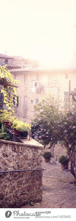 Vertikorama. Kunst Dorf Fischerdorf Kleinstadt Stadt Altstadt Menschenleer Haus ästhetisch mediterran Italien Italienisch Toskana verträumt Idylle friedlich