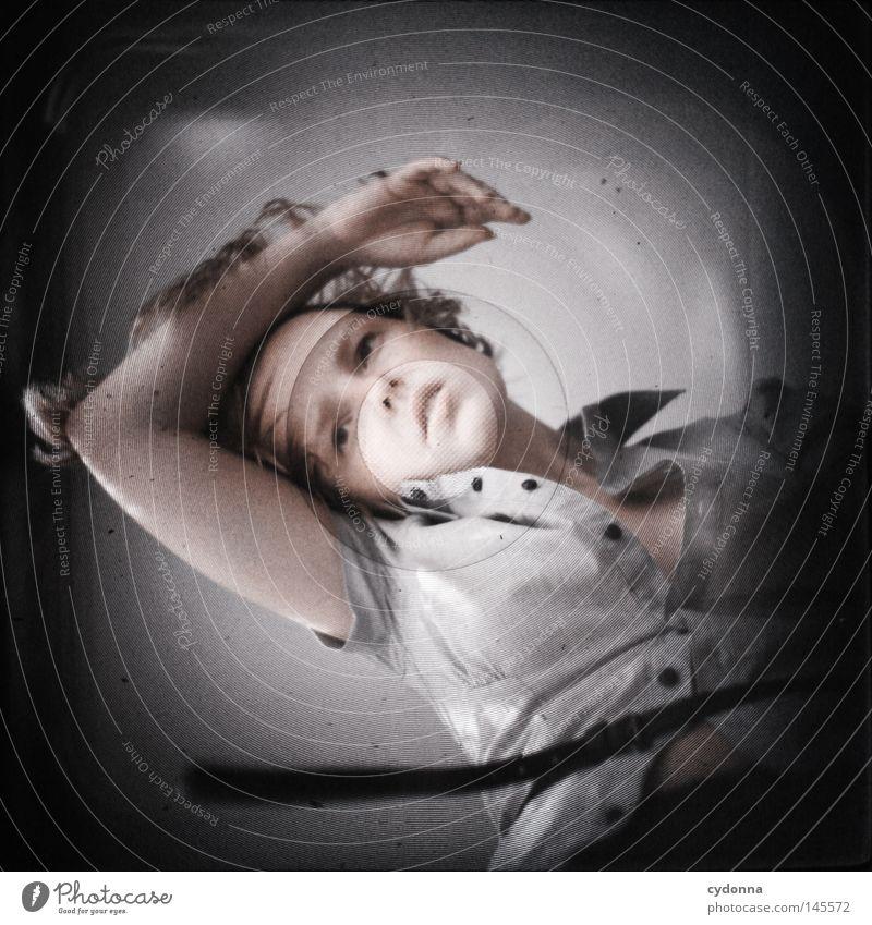 Analog//Digital VII Frau Mensch schön dunkel Gefühle Kopf Bewegung Haare & Frisuren hell Zeit Kraft Tanzen planen Perspektive geheimnisvoll analog