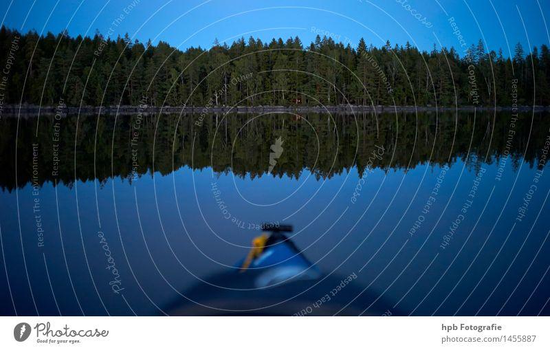 Paddeln am Asnen Natur Ferien & Urlaub & Reisen Pflanze blau schön Sommer Wasser Einsamkeit Landschaft Wald Herbst Küste Sport außergewöhnlich See Stimmung