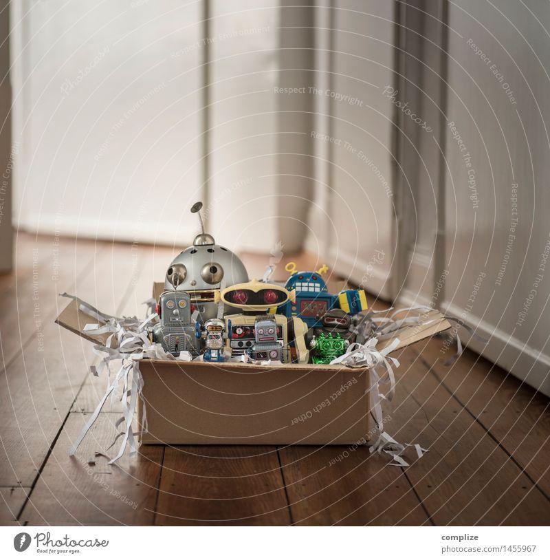 Überraschung! Weihnachten & Advent Glück Wohnung Design Häusliches Leben Geschenk kaufen retro Spielzeug Handel Eingang Flur Kiste Post Sechziger Jahre