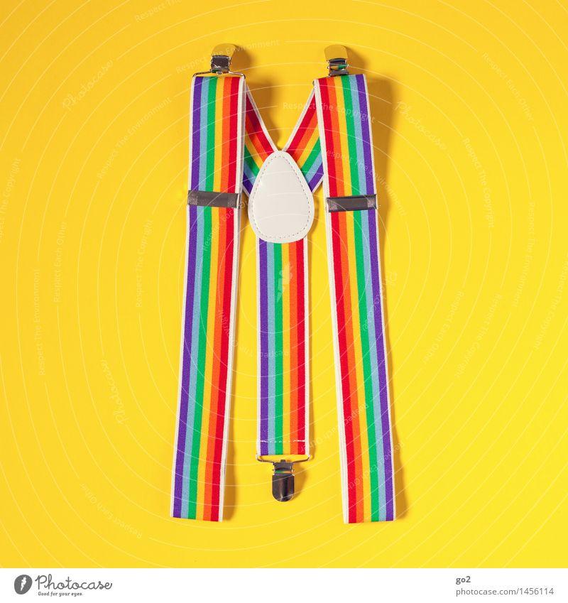 Hosenträger Modell Regenbogen Stil Freude Entertainment Feste & Feiern Karneval Jahrmarkt Bekleidung Accessoire ästhetisch außergewöhnlich Fröhlichkeit