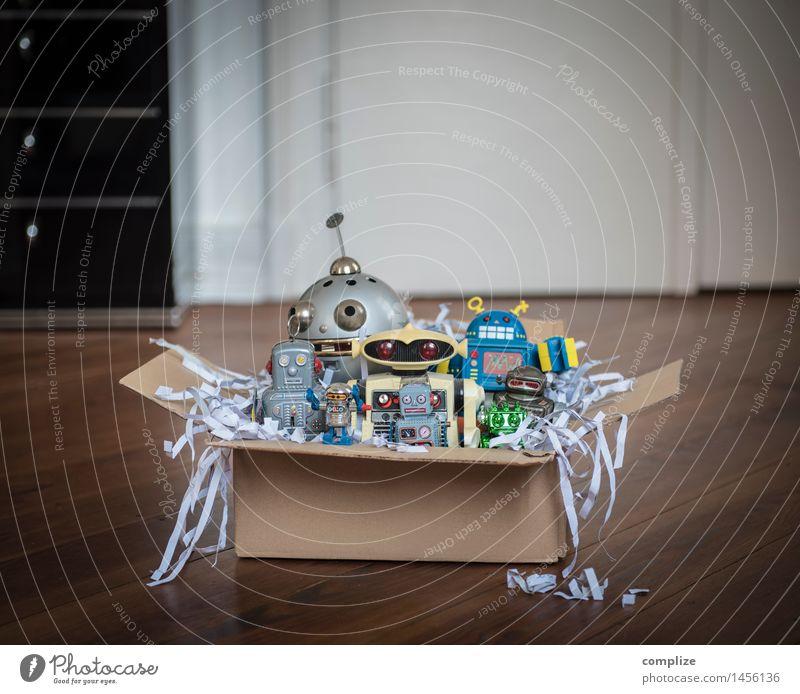 Spielkameraden Kind Weihnachten & Advent sprechen Spielen Feste & Feiern Geburtstag Technik & Technologie Zukunft Geschenk retro Kitsch Futurismus Spielzeug