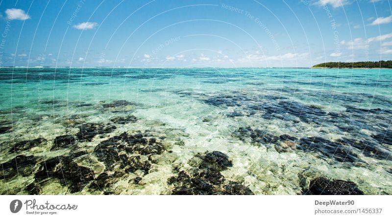 The blue Lagoon Himmel Natur Ferien & Urlaub & Reisen Pflanze blau Farbe Sommer Wasser Sonne Baum Meer Wolken Ferne Strand Umwelt Küste
