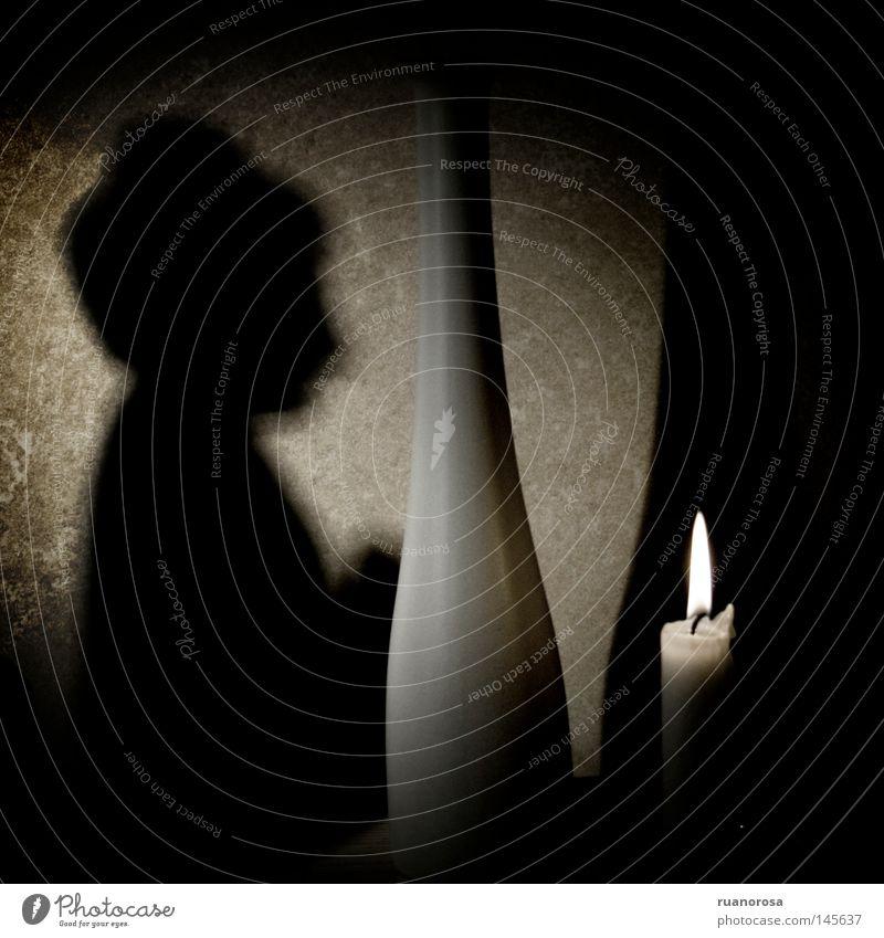 Sidharta Religion & Glaube Stillleben Feuer Kerze Altar Gebet Buddhismus Buddha Schatten Meditation Flamme Dekoration & Verzierung Silhouette Idol Blumenvase