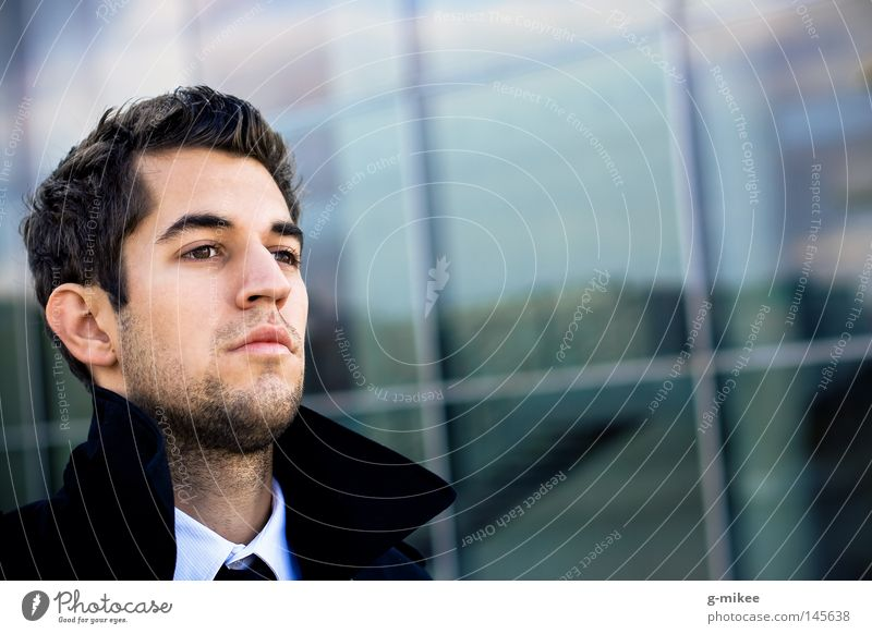 busy Mann Porträt Gesicht Erwachsene Business maskulin Erfolg Aktion Körperhaltung Konzentration Anzug Stress ernst Geschäftsmann