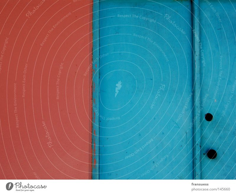 chromatics blau rot Haus Farbe Wand Mauer Linie rosa Tür Geometrie Malediven