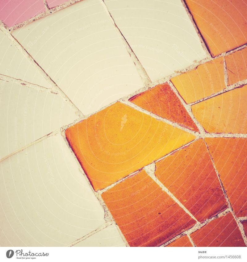 Einfach ist nicht leicht ... Stil Design Dekoration & Verzierung Kunst Kunstwerk Architektur Wand Stein alt ästhetisch eckig historisch einzigartig gelb weiß