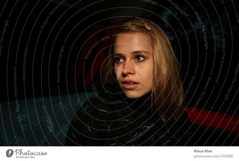 MY TRIP OVER 50 METERS ::::. Frau Jugendliche PKW Angst blond KFZ gefährlich Panik Überraschung Haarspange