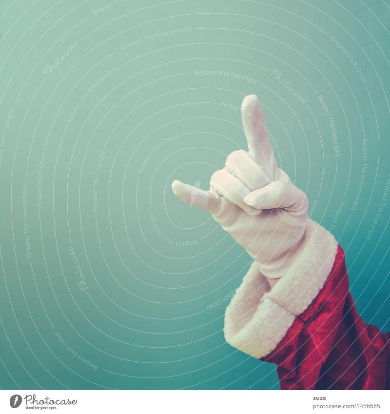 Keep cool Weihnachten & Advent blau weiß Hand rot Freude lustig Stil Feste & Feiern Design maskulin Arme Kreativität Bekleidung einfach Zeichen