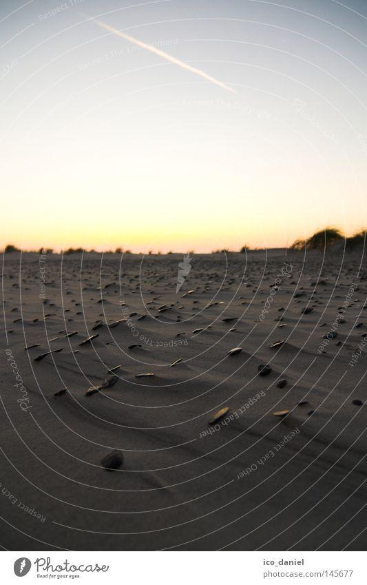 Steinwüste schön Ferien & Urlaub & Reisen Ferne Strand Sand Himmel Wolkenloser Himmel Sonnenaufgang Sonnenuntergang Küste Ostsee Einsamkeit Bornholm Dänemark