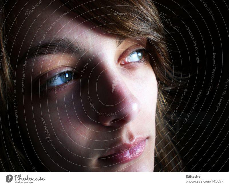 Träumen... Frau Jugendliche Gesicht Auge träumen Mund Nase Frieden