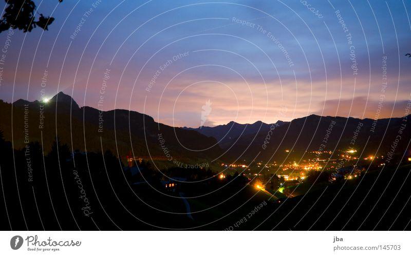 au revoir soleil Natur schön weiß blau Sommer schwarz Wolken Erholung Berge u. Gebirge Bewegung Freiheit grau hell Beleuchtung orange