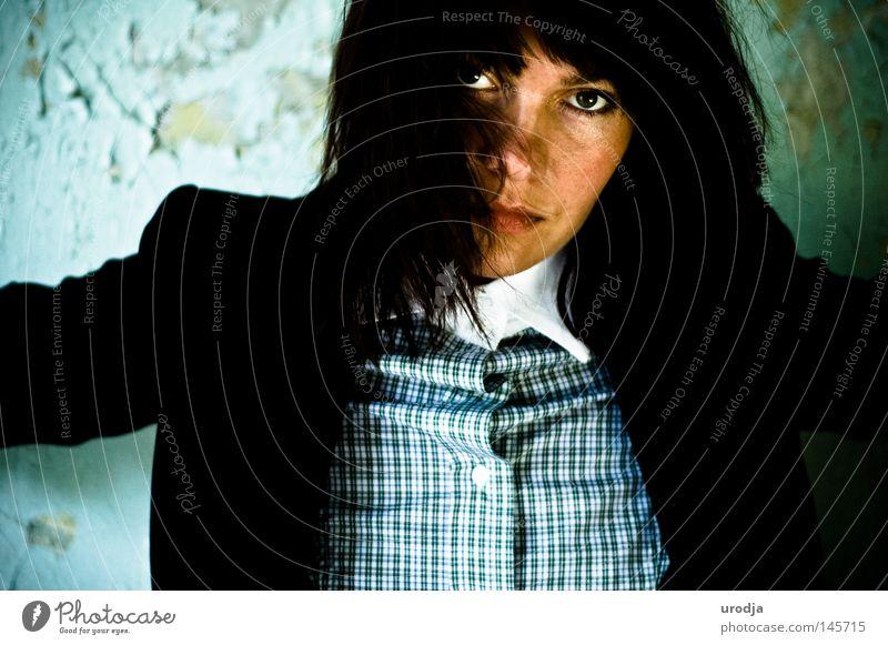 Frau Farbe Farbstoff Mode Porträt Russland Moskau