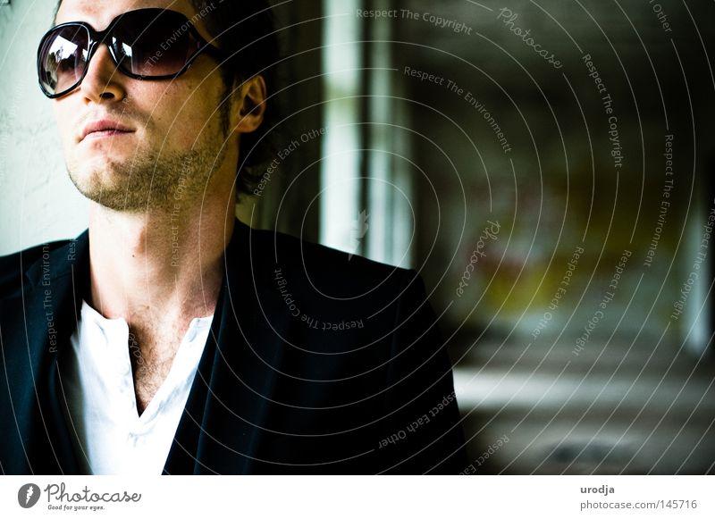 Mann Farbe Farbstoff Mode Porträt Brille