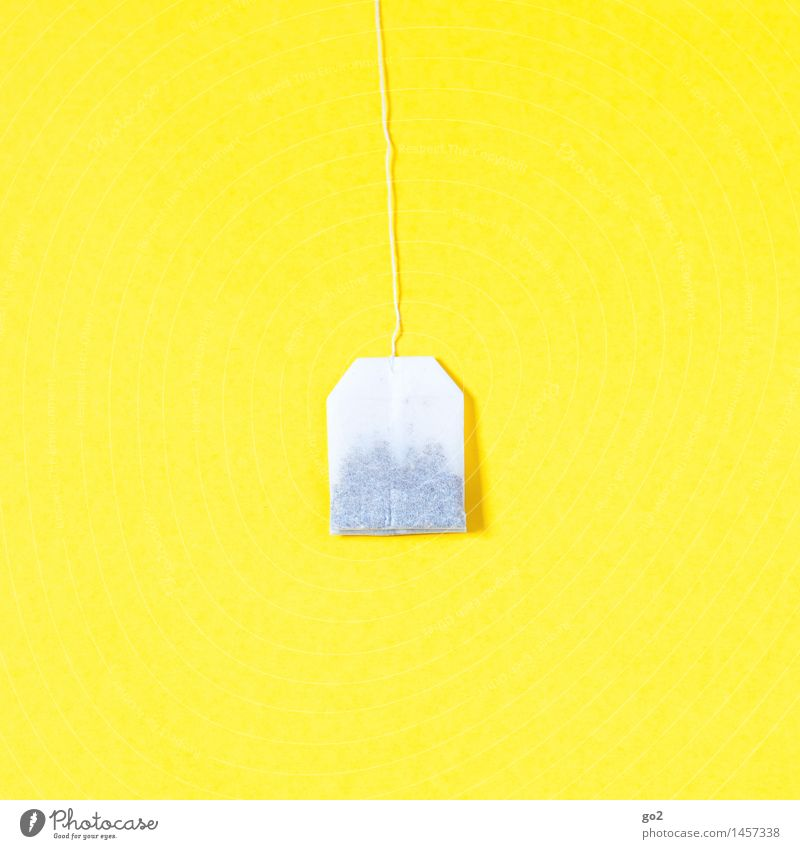 Teebeutel weiß Gesunde Ernährung gelb Gesundheit hell frisch ästhetisch einfach Getränk Tee Diät Fasten minimalistisch Heißgetränk Teebeutel
