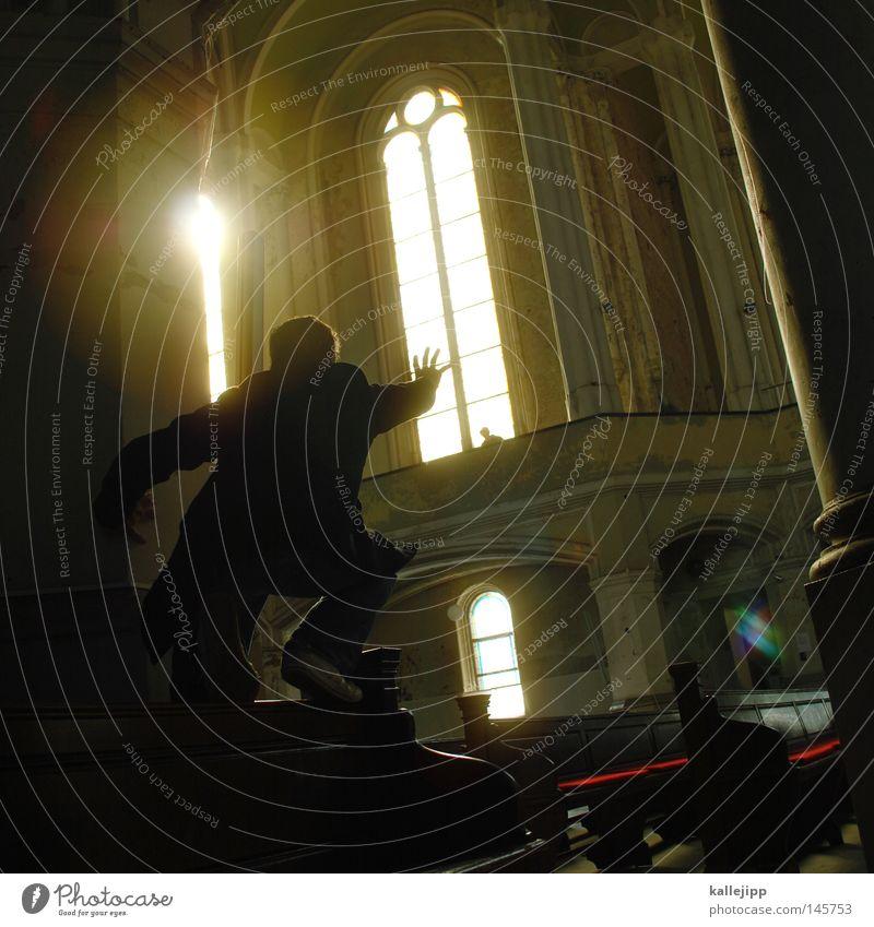 gothic Religion & Glaube Kirche Gotteshäuser Arme Finger Mensch Zusteller Geistlicher Sonne Stern Licht Gegenlicht Silhouette Klassizismus fangen greifen heilig