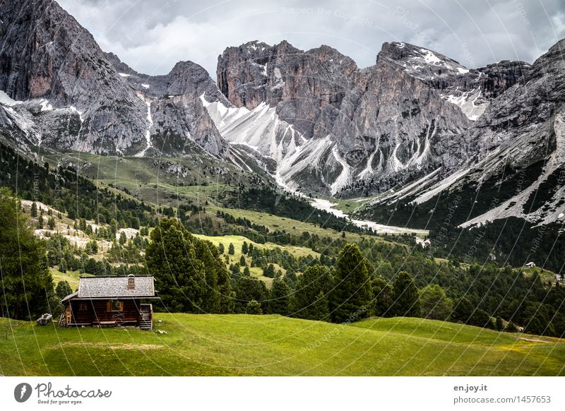 endlich Urlaub Himmel Natur Ferien & Urlaub & Reisen grün Sommer Erholung Landschaft Wolken ruhig Berge u. Gebirge Wiese Freiheit Felsen wandern Idylle Ausflug