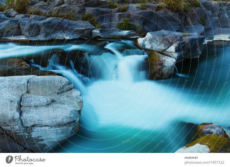 Wasserfall Basaltgestein Natur Landschaft Frühling Felsen Fluss Stein groß Geschwindigkeit Erholung Idylle ruhig stufen Sizilien Italien alcantara Gewässer