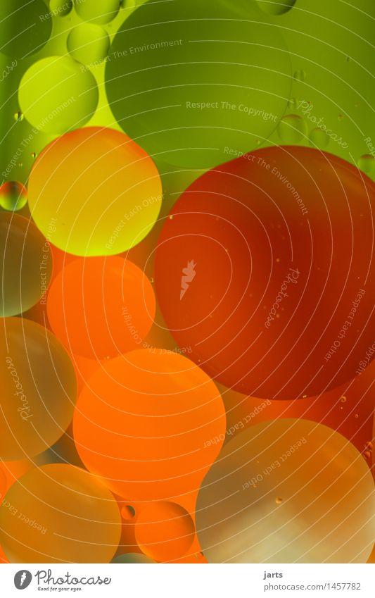 rundundbunt Wasser außergewöhnlich fantastisch Flüssigkeit frisch glänzend nass natürlich braun grün orange rot Kreativität Blase Kreis mehrfarbig Farbfoto