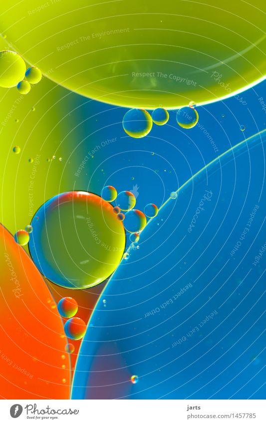 runde sache Wasser Schwimmen & Baden elegant Flüssigkeit hell nass schön blau grün orange Kreativität Blase Kreis Farbfoto mehrfarbig Studioaufnahme Nahaufnahme