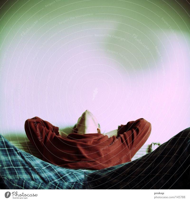 Abendsonne auf Rancho Relaxo Erholung Sofa liegen sitzen Mensch Mann ruhig genießen Halbschlaf schlafen Langeweile Zufriedenheit