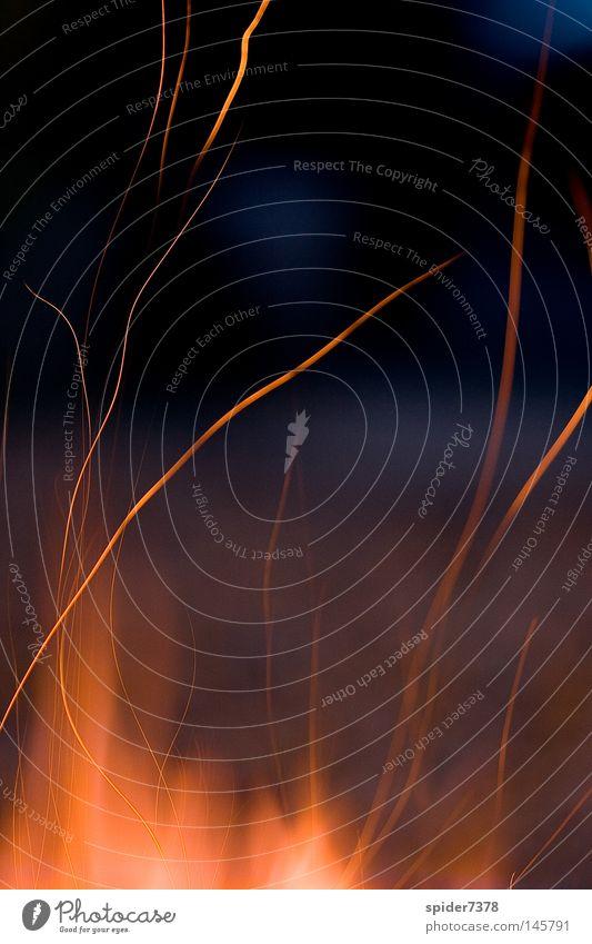 under fire Wärme Brand Feuer Romantik Physik Grillen Flamme Funken
